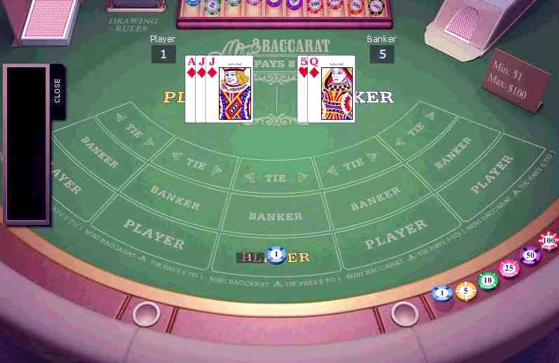 live baccarat rules online